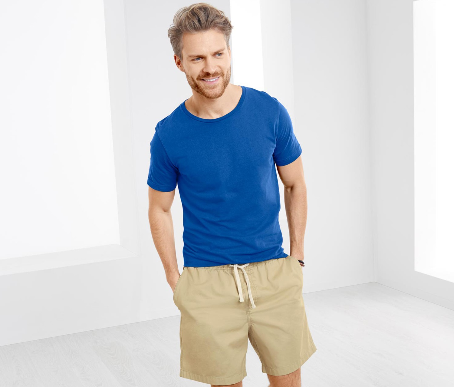 Men's Short, Beige