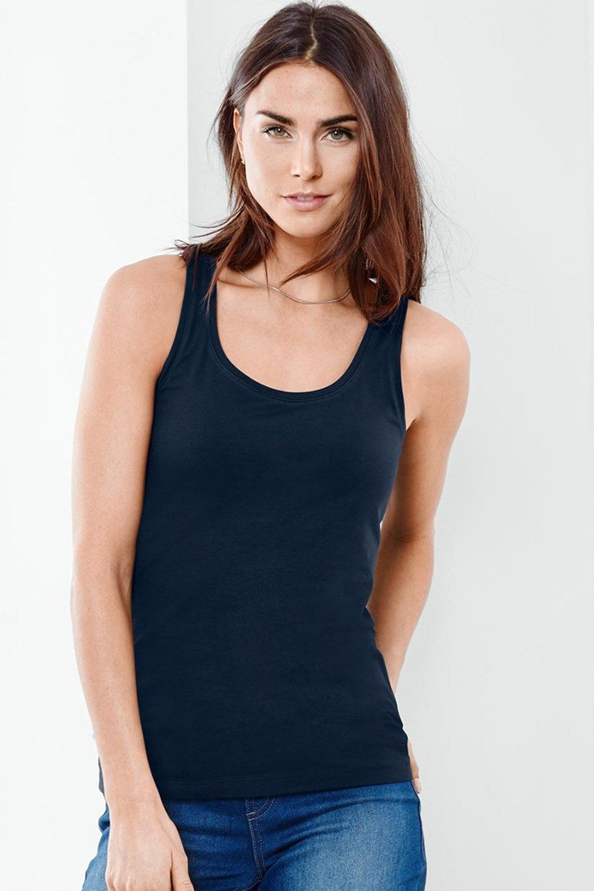 Women Top, Navy Blue