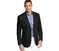 Tasso Elba Men's Updated Linen Blazer, Black