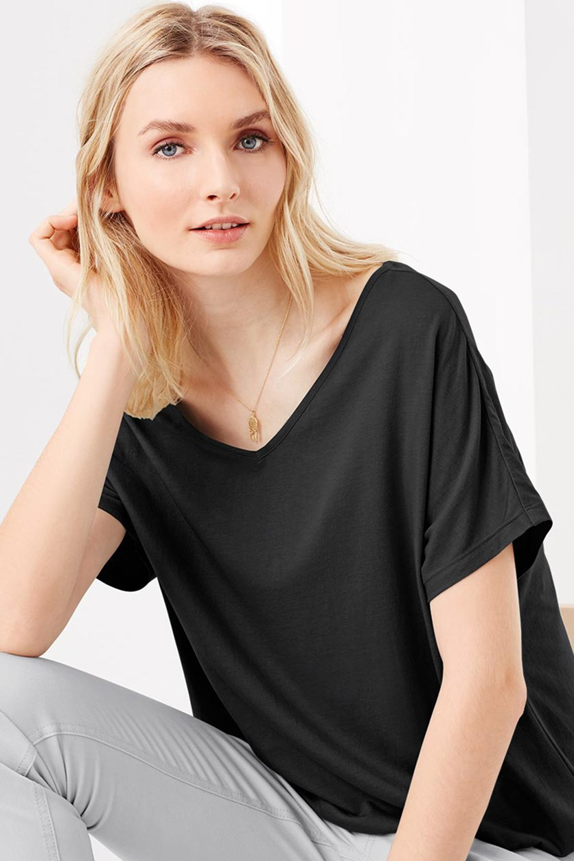 Women's V-Neck Shirt, Black
