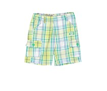Boboli Toddler's Poplin Checkered Short, Green