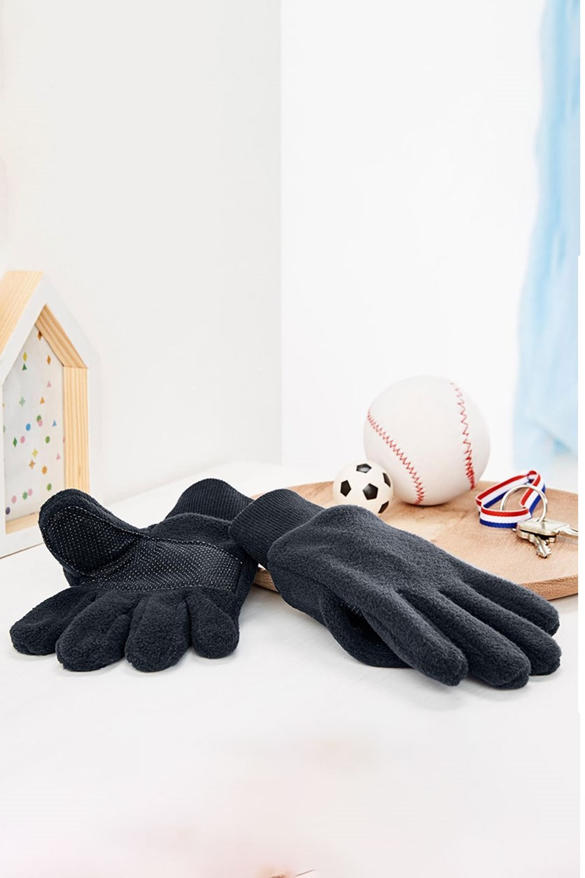 Boys Fleece Gloves, Blue