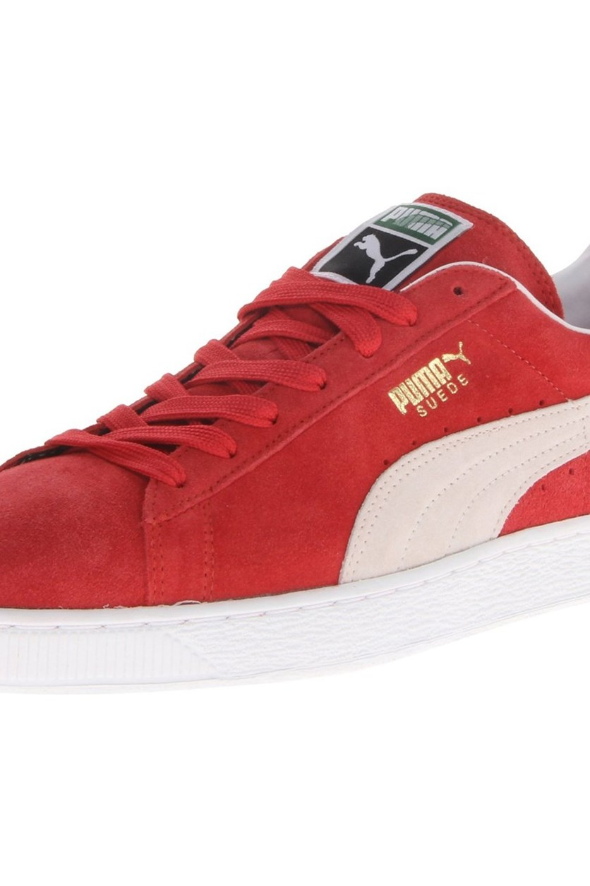 Kid's Boy Suede Classic Shoe, Red/White