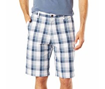 Dockers Mens Classic-Fit Perfect Short, White Plaid