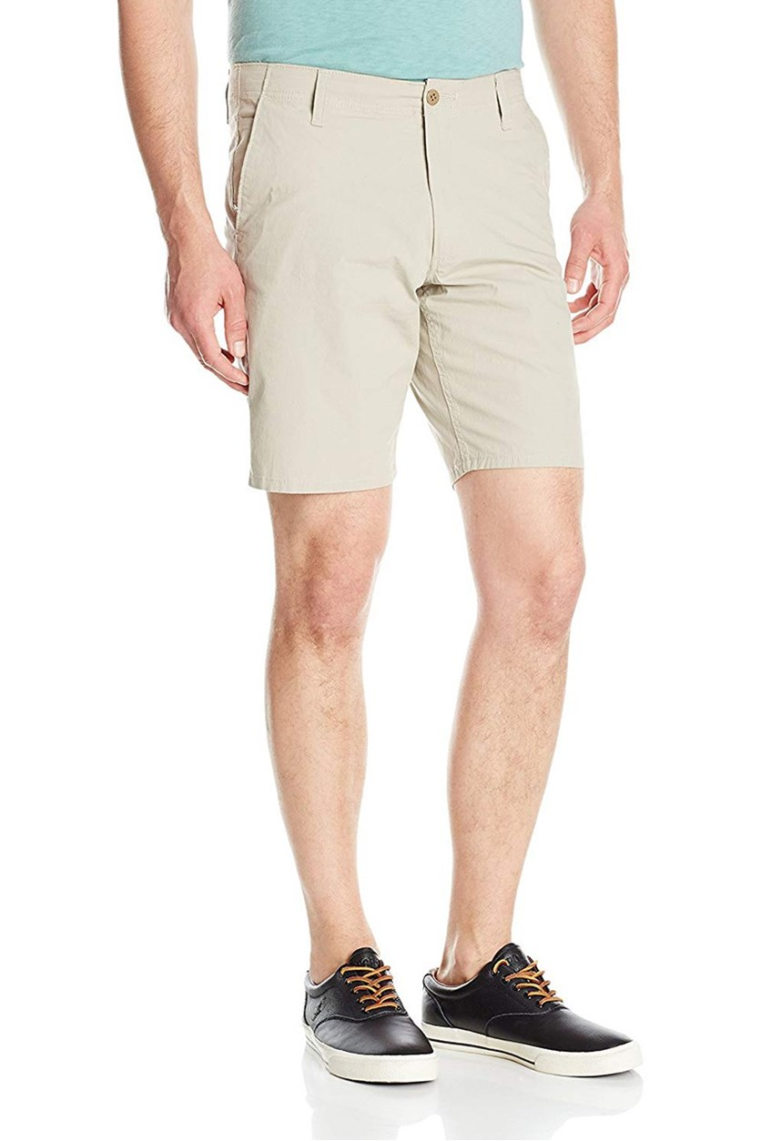 Men's Flat-Front Stretch Shorts, Safari Beige
