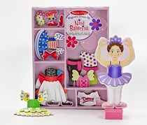 Melissa & Doug Magnetic Dress-Up Set, Nina Ballerina