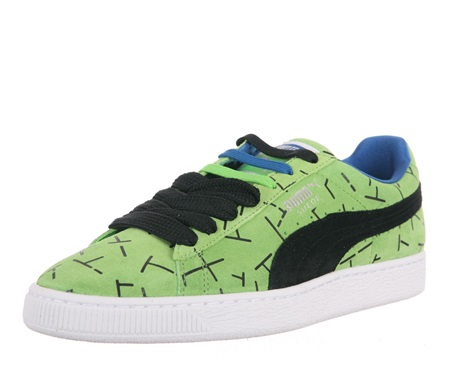4bffe1d3535f1 Shop Puma Men's Suede Classic 1993 The List Sneakers In, Green Flash ...