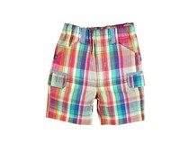 Boboli Toddler's Poplin Checkered Short, Pink
