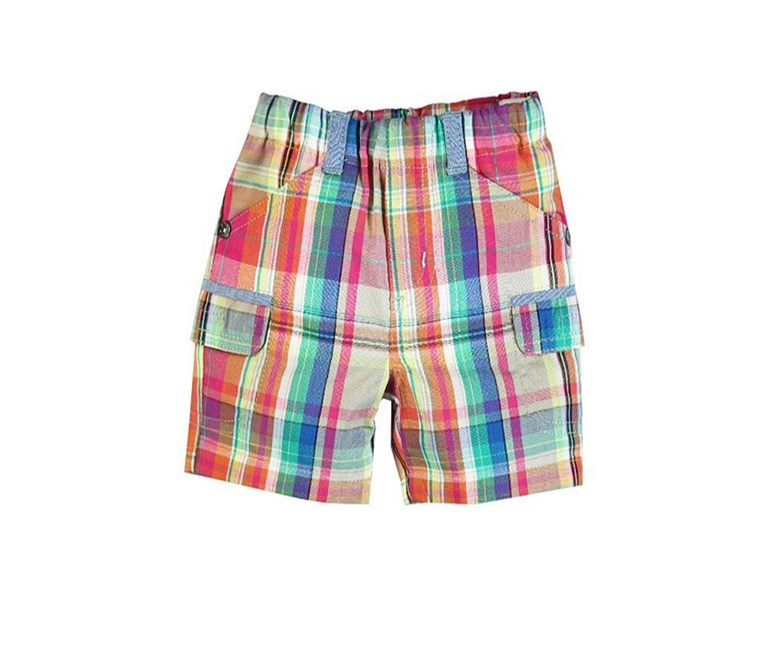 Toddler's Poplin Checkered Short, Pink