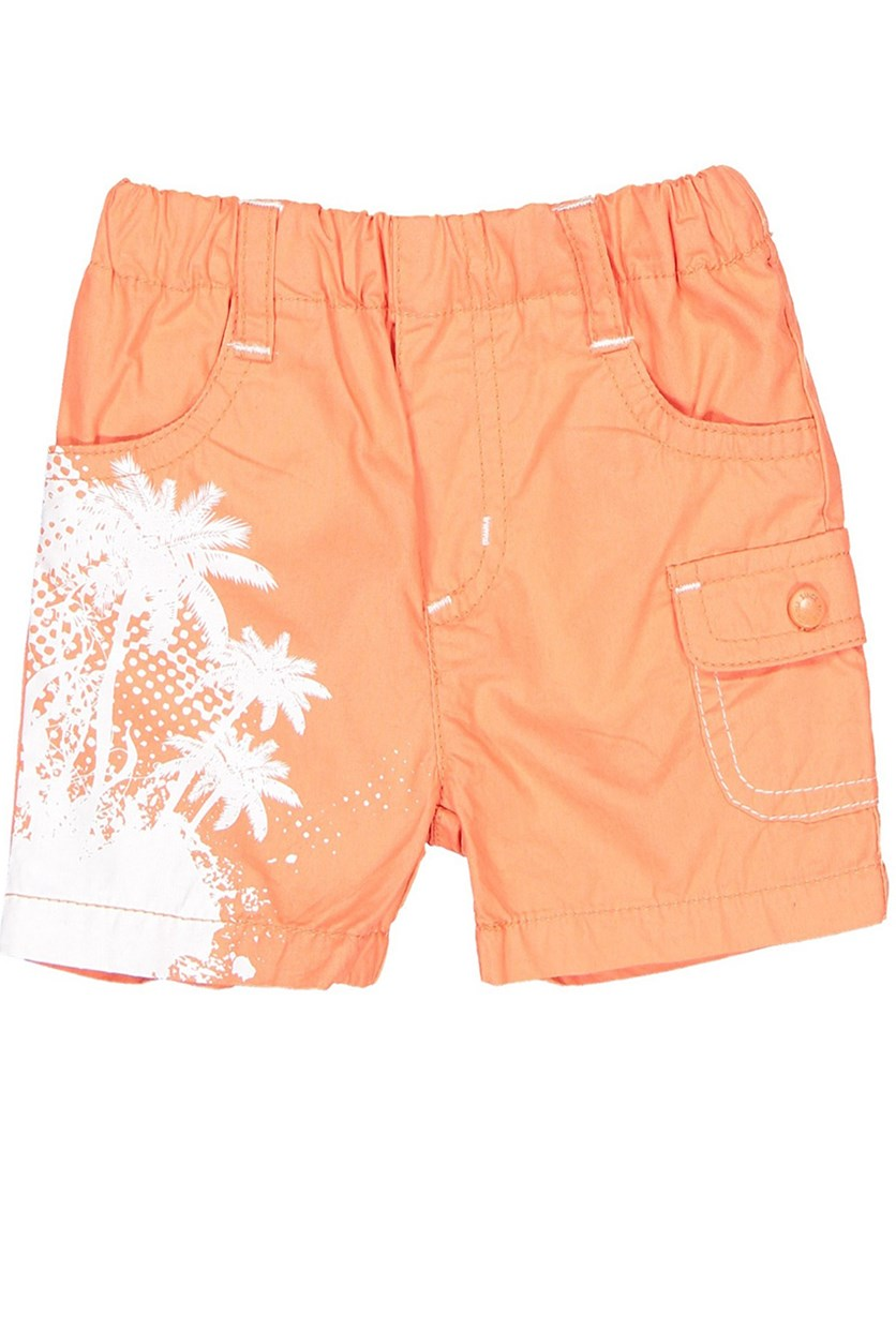 Toddler's Poplin Short, Orange