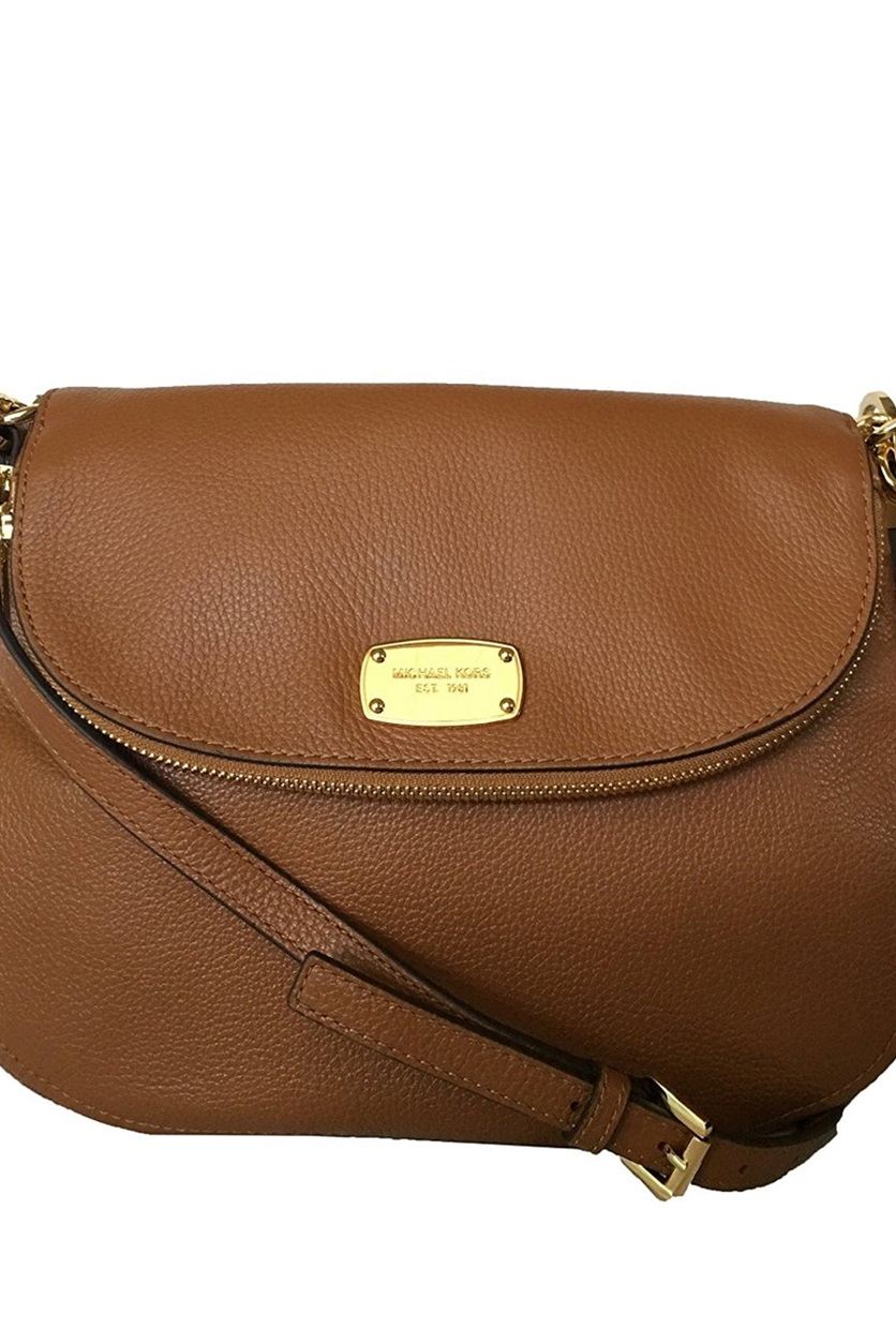 dbc00fb52cb4c8 Shop Michael Kors Bedford Medium Tassel Crossbody Leather Bag,Brown ...
