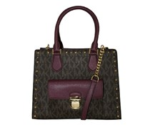 Michael Kors Bridgette Studded Medium Tote, Brown/Plum