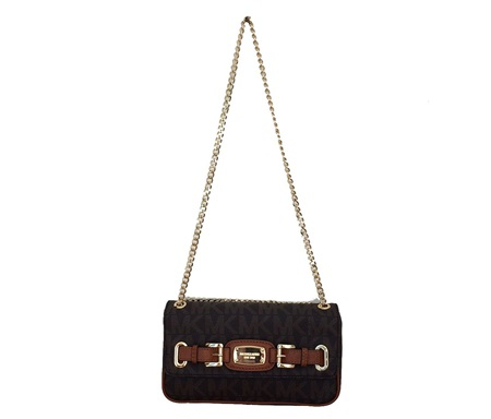 Shop Michael Kors Michael Kors Hamilton Small Shoulder Flap Purse,Brown for  Bags in United Arab Emirates - Brands For Less 528486b0ee