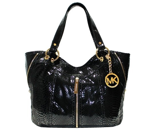 6d5dd5fb89befe Shop Michael Kors Michael Kors Moxley Embossed Python Leather Tote ...