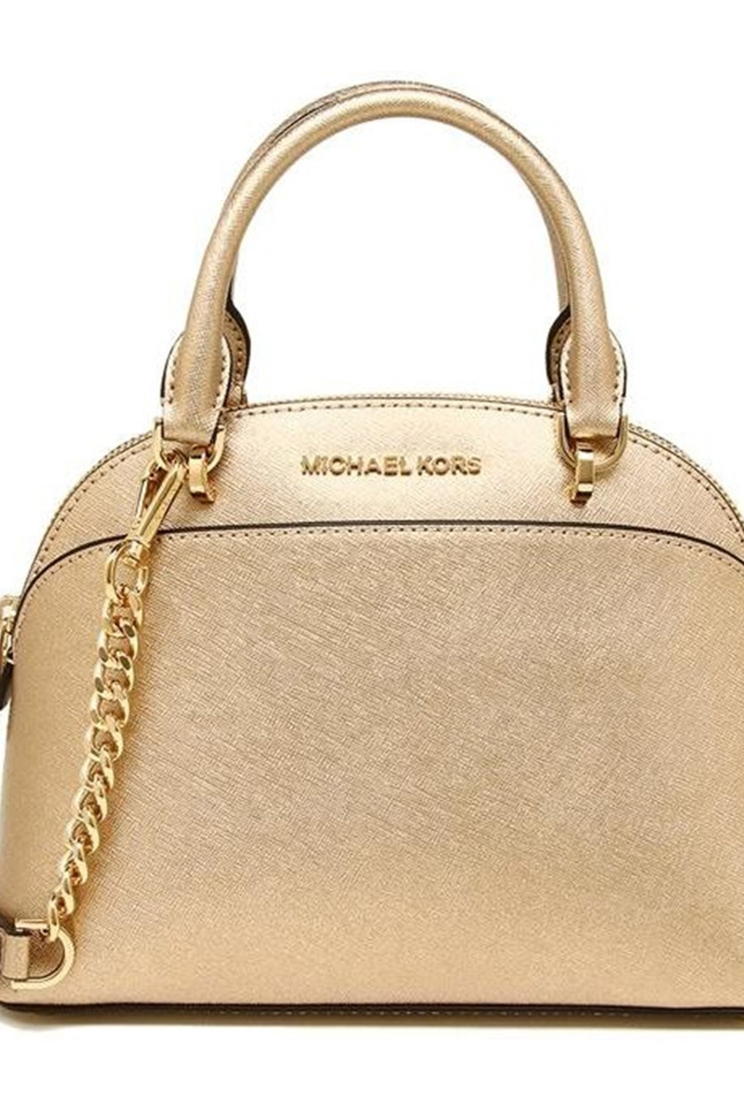 fff5cc75e206 Shop Michael Kors Michael Kors Large Emmy Dome Satchel, Pale Gold ...