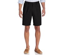 Mens pleated front khakis chinos shorts