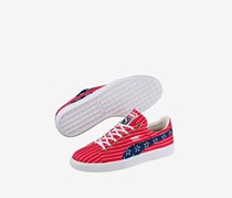 Mens Footwears Puma Basket 4th Of July FM USA Independence Day Toreador Shoes, Blue/Red