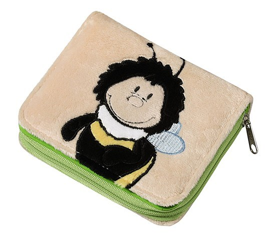 Bumblebee Purse Plush, Beige/Green