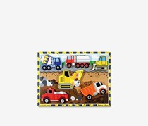 Melissa & Doug Construction Vehicles Wooden Chunky Puzzle