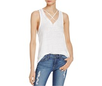 Project Social T. Linen Strappy Tank Top, White