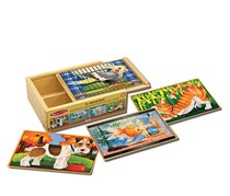 Wooden Jigsaw Puzzles In A Box - Pets