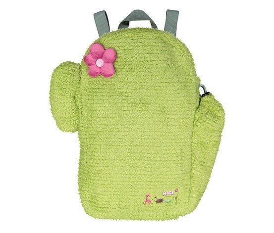 Backpack Cactus Figurine Shaped, Green