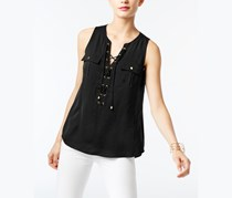 Inc International Concepts Lace-Up Top, Black