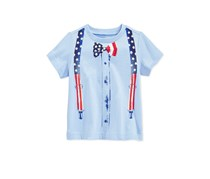 First Impressions Baby Boys Flag Suspender Tee