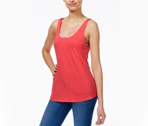 Ultra Flirt Juniors Tank Top with Printed, Coral Chevron