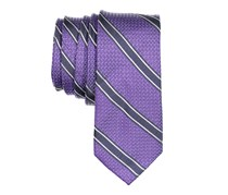 Bar III Men's Stripe Necktie, Purple