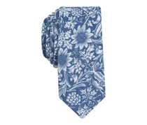 Bar III Men's Polo Club Floral Slim Tie, Blue