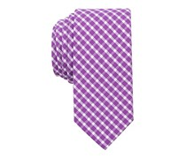 Bar Iii Men's Mulberry Check Skinny Tie, Mulberry