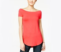 Ultra Flirt Juniors Marilyn Boat-Neck Tunic Top, Rose Of Sharon