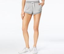 Notch-Hem French Terry Shorts, Light Heather Grey