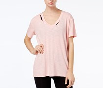 Jessica Simpson The Warm Up Juniors' Don't Tell Ripped Graphic T-Shirt, Powder Pink