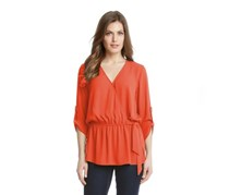 Karen Kane Faux Wrap Top, Orange
