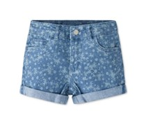 Levi's Little Girls Summer Love Shorty Shorts, Blue Mist