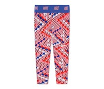 Nike Toddler Dri-fit Geo-Print Capri Leggings, Bright Melon