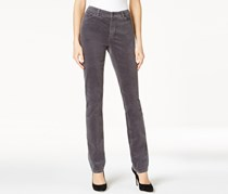 Charter Club Petite Lexington Corduroy Pant, Shadow Grey