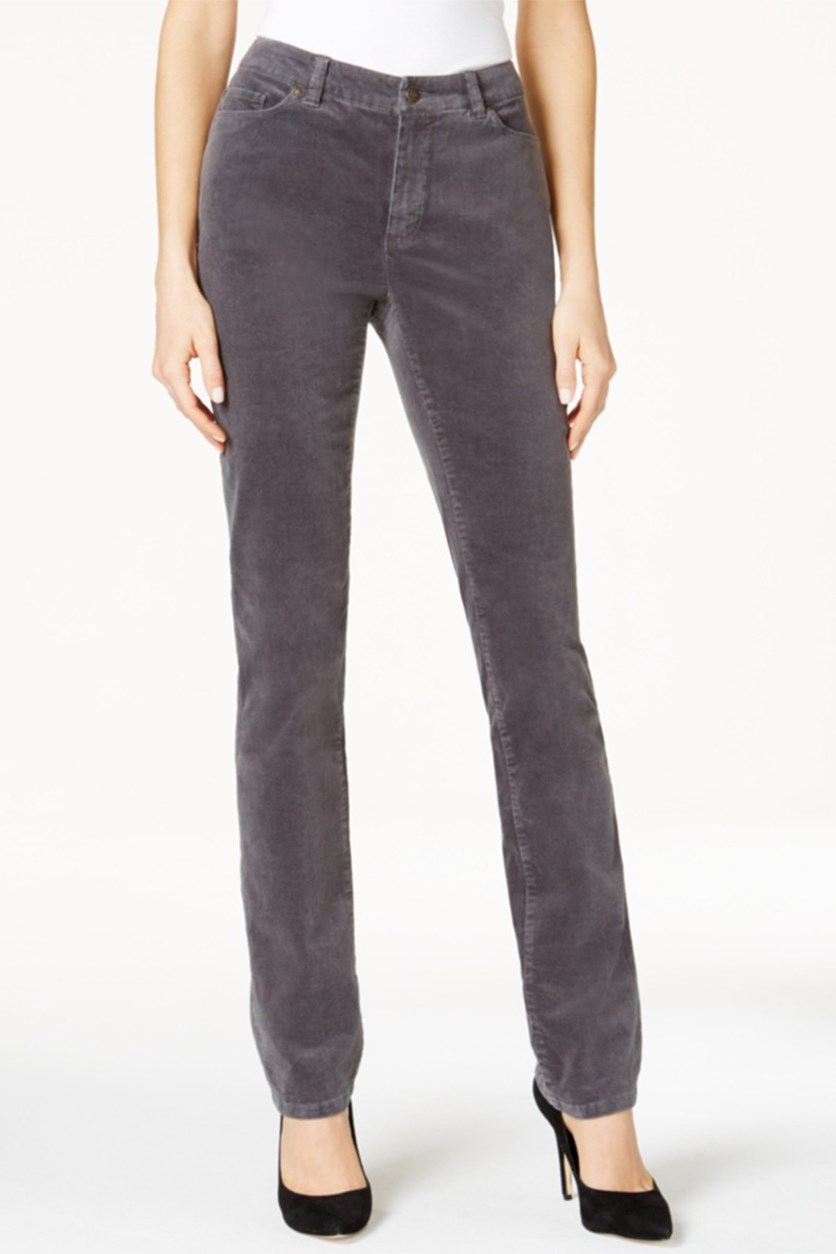 Petite Lexington Corduroy Pant, Shadow Grey