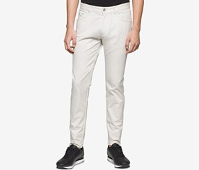 Calvin Klein Men's Slim-Fit Five-Pocket Pants, Light Grey