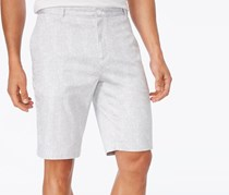 Calvin Klein Mens Textured Print Shorts, White/Grey