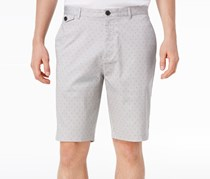 Calvin Klein Mens Mini-Grid Foulard Shorts, Cinderblock