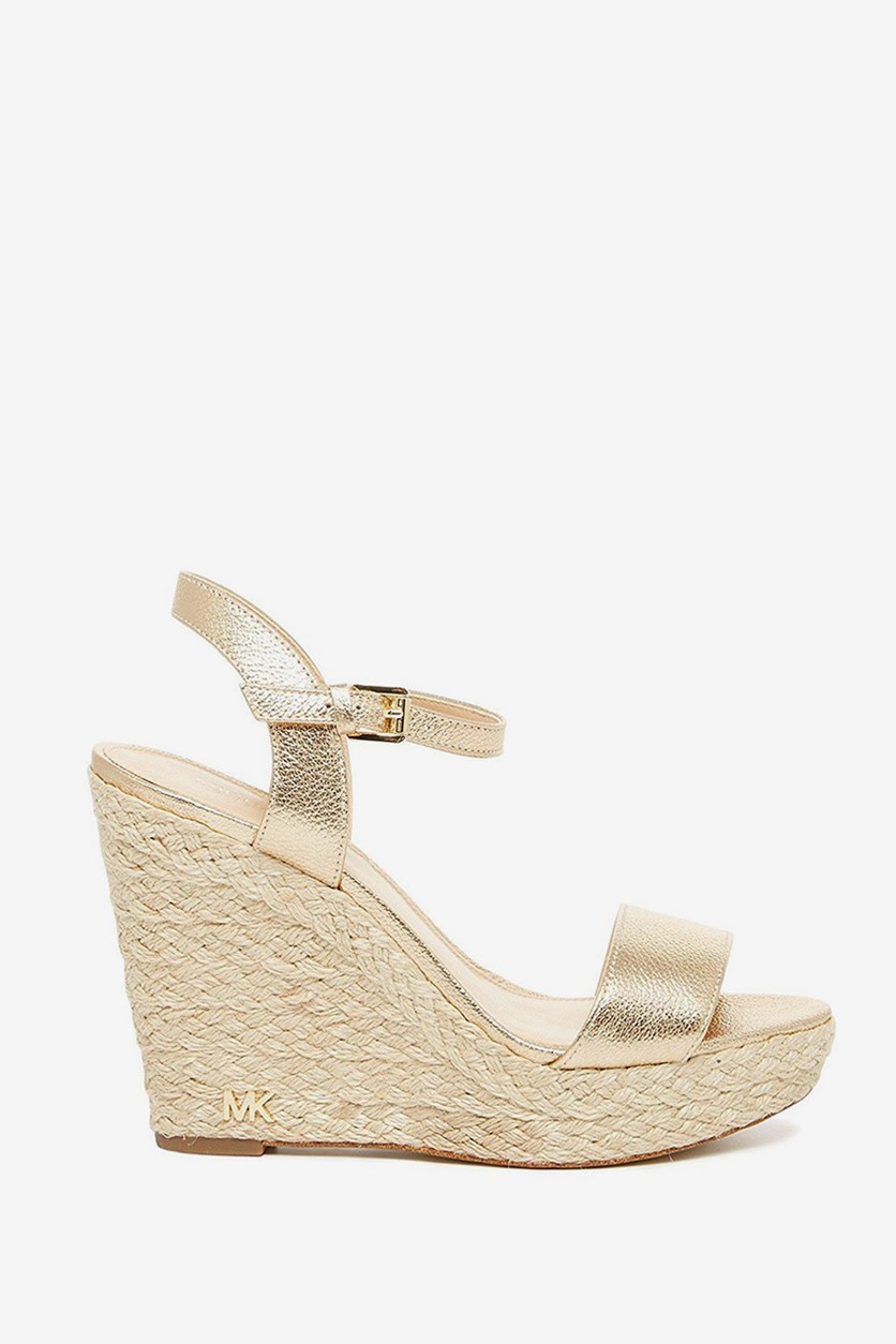 Jill Espadrille Wedge Sandals, Pale Gold