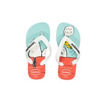 Havaianas Kids Girl Snoopy Flip Flop, White/Blue