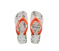 Havaianas Kids Girl's Top Olaf, White/Orange