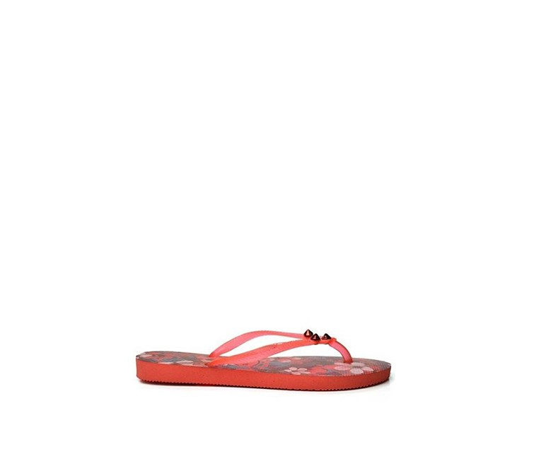 Kids Girls Slim Style Slipper, Orange Cyber