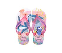 Havaianas Kid's Girls Nemo E Dory Flip Flop, White/Pink
