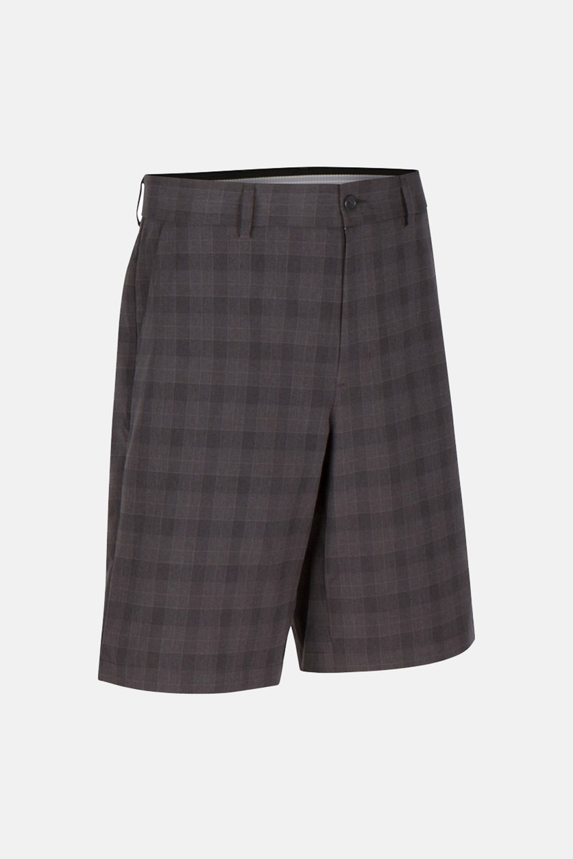 for Tasso Elba Men's Plaid Shorts, Charcoal
