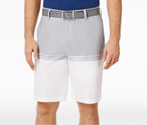 Greg Norman Mens Colorblocked Stretch Short, Silver